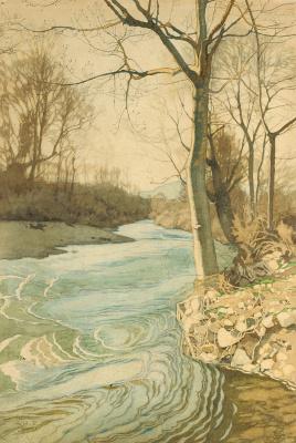 Ivan Yakovlevich Bilibin. On the river bank