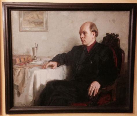 """Константин Петрович Фролов. """"Портрет М.С. Агеева"""", 1953, х./м. 75х90"""