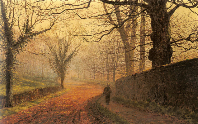 John Atkinson Grimshaw. November day in the Park