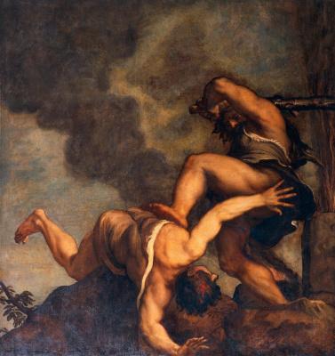 Тициан Вечеллио. Каин и Авель
