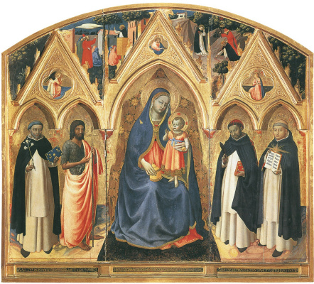 Фра Беато Анджелико. Алтарь святого Петра Мученика. Около 1427–1428
