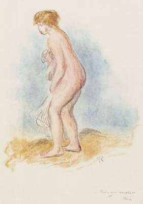 Pierre-Auguste Renoir. Standing bather