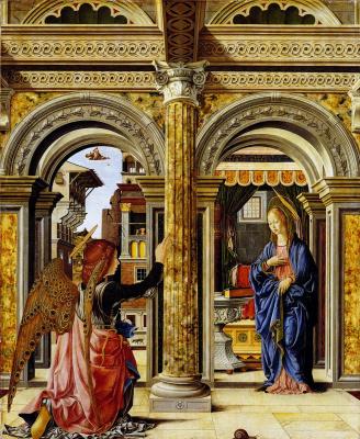 Francesco del Cossa. The Annunciation