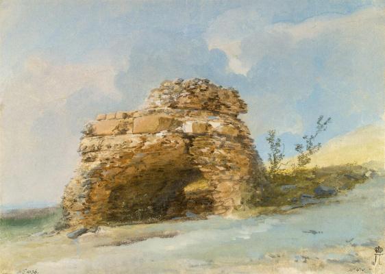 Жан-Пьер-Лоран Уэль. Гробница у ворот древнего города Тиндари