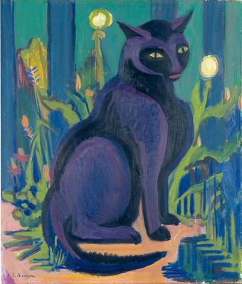 Ernst Ludwig Kirchner. Black cat