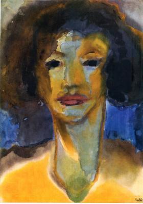 Emil Nolde. Portrait of a woman