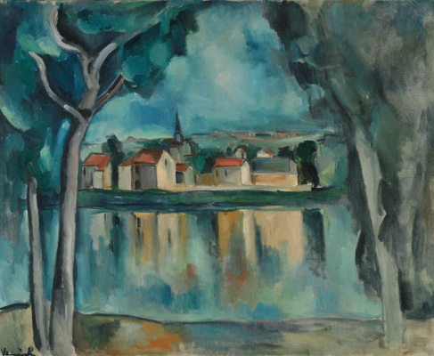 Maurice de Vlaminck. Town on the banks of the Seine