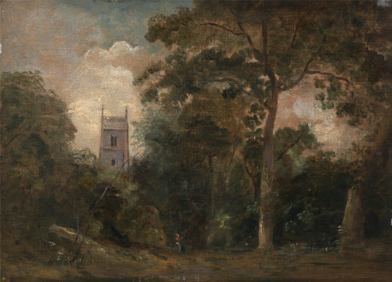 John Constable. The Church among the trees