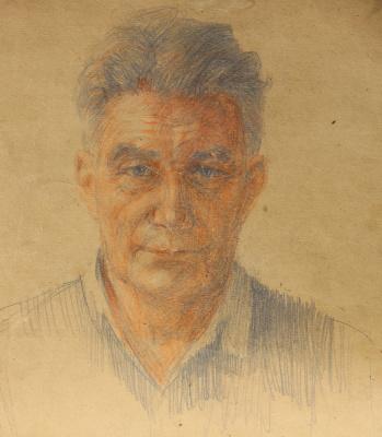 Vasily Fadeevich Demin. Self-portrait Demin V.F.