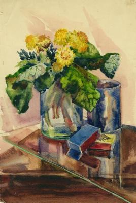 Нина Алексеевна Носкович (Лекаренко). Still life with dandelions