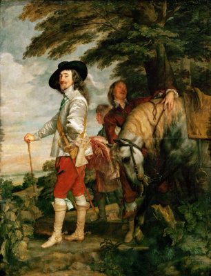 Anthony van Dyck. Portrait of Charles I on the Hunt