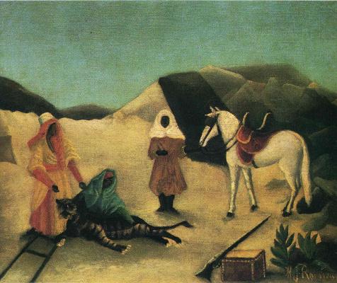 Henri Rousseau. Catching a tiger
