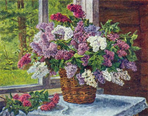 Petr Petrovich Konchalovsky. Lilac at the window
