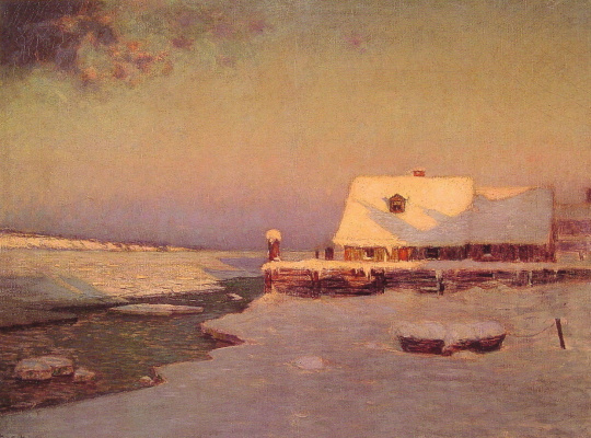 Birge Harrison. Winter, twilight