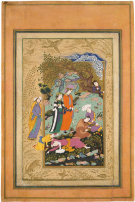 Riza-yi-Abbasi. Coming in the lap of nature. (Thumbnail 2).