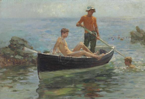 Tuke Henry Scott. 1858-1929. The Orange Jersey, 1915