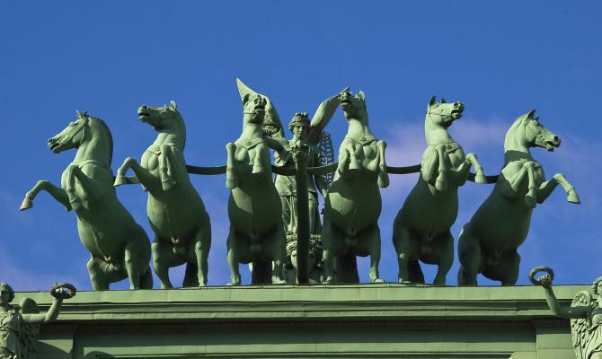Peter Karlovich Klodt von Jurgensburg. Narva Triumphal Gate