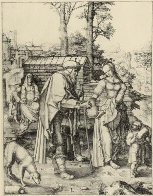 Lucas van Leiden (Luke of Leiden). Big Hagar