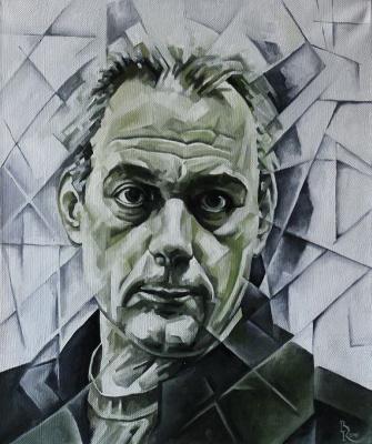 Vasily Krotkov. Portrait Of Sergei Dorenko. Kubofuturizm