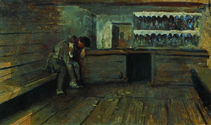 Andrei Petrovich Ryabushkin. Tavern 1891