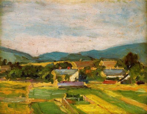 Egon Schiele. Landscape in Lower Austria