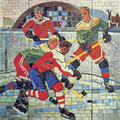 Alexander Alexandrovich Deineka. Hockey players