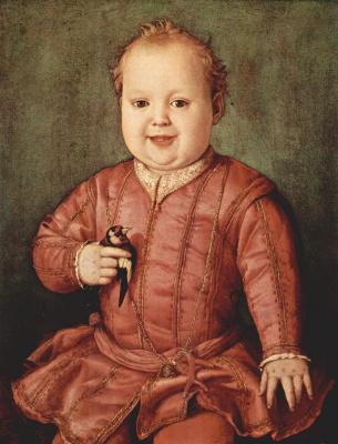 Agnolo Bronzino. Portrait of Giovanni Medici in childhood