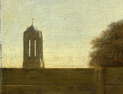 Pieter de Hooch. Dutch yard. Fragment