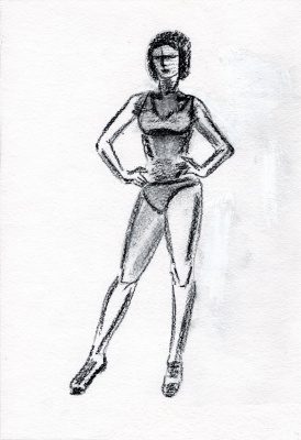 Polina. Woman. Sketch