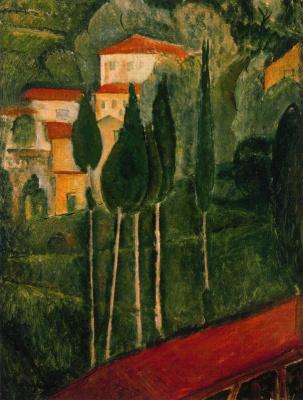 Амедео Модильяни. Деревья
