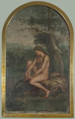 Рафаэль Санти. Венера, завязывающая сандалию (школа Рафаэля)