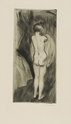 Theophile-Alexander Steinlen. Clothed girl