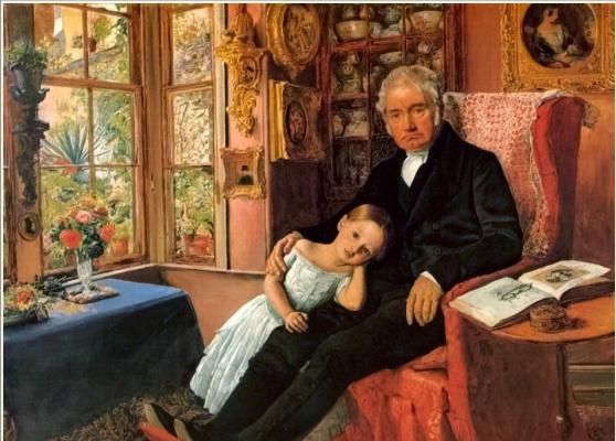 Джентльмен с дочерью