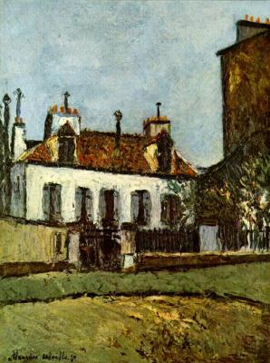 Морис Утрилло. Дом в пригороде Парижа