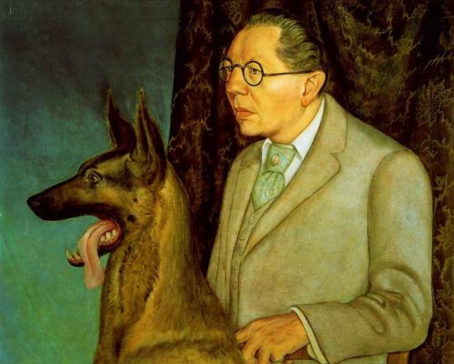 Otto Dix. Hugo Erfurt with a dog