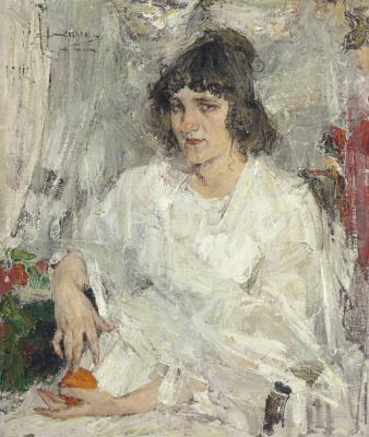 Nikolay Feshin. Portrait of Mademoiselle Kitaeva.