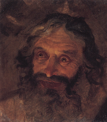 Nikolai Nikolaevich Ge. The head of a Jew