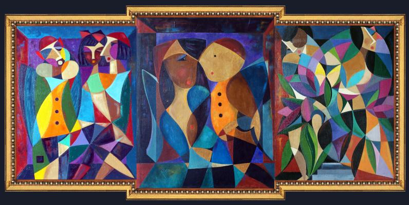Igor Veniaminovich Bondarenko. The Temptation of the Fall Exile from Paradise (Triptych)