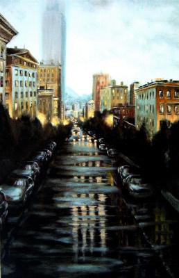 Alex Visiroff. Evening after rain