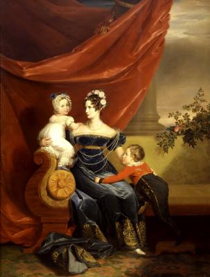 Джордж Доу. Портрет великой княгини Александры Федоровны с детьми