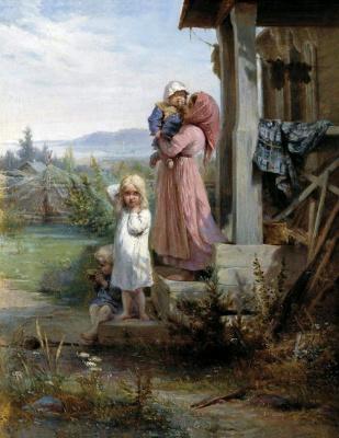 Иван Кошелев. Утро в деревне