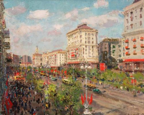 Сергей Федорович Шишко. Киев. Крещатик