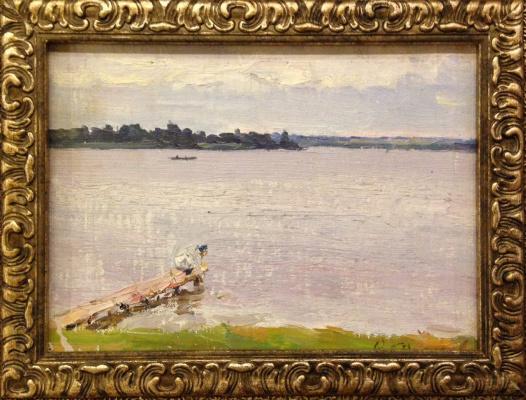 "Vyacheslav Andreevich Fedorov. ""On the jetty"""