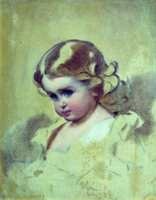 Иван Кузьмич Макаров. Портрет Нюты (А.И. Лебедева, рожденная Макарова, дочь художника). 1860-е