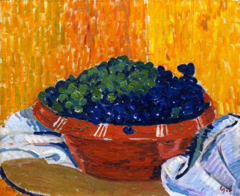 Джованни Джакометти. Чаша с виноградом