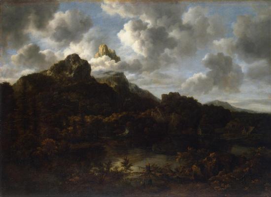 Jakob van Isaacs Ruisdael. Mountain landscape