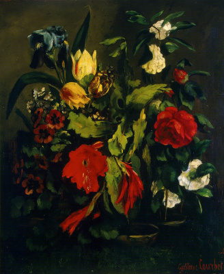 Gustave Courbet. Flowers