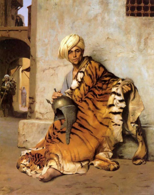 Jean-Leon Jerome. The fur trader in Cairo