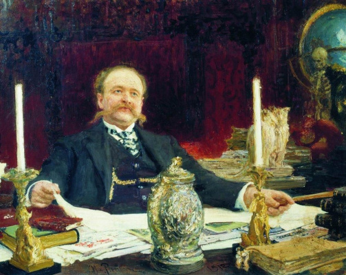 Ilya Efimovich Repin. Portrait Of V. V. Bitner
