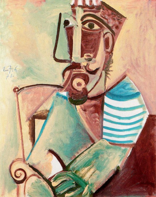 Pablo Picasso. Seated male
